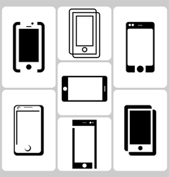 Phone logo set vector