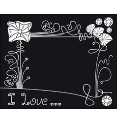 flower black background vector image