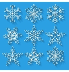 Snowflakes setbackground for winter and christmas vector