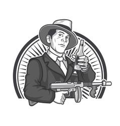 Gangster Beer vector image