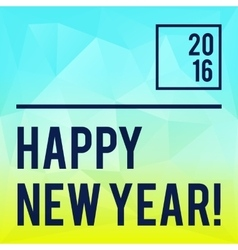 Square new year design with gradient triangle vector