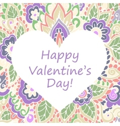 Happy valentines day congratulations card vector