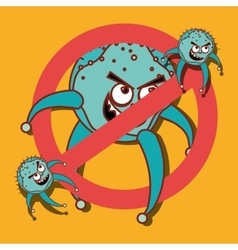 Germs and bacteria cartoon vector