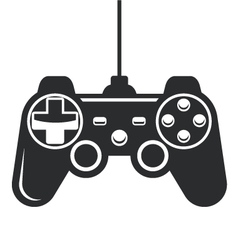 Gamepad icon - joystick for game console vector