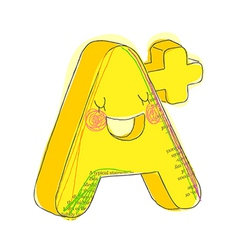 A view of alphabet vector image vector image