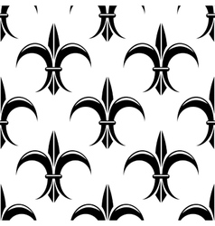 Black and white fleur de lys seamless pattern vector