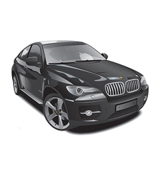 black sports jeep vector image