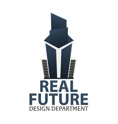 Building logo design department modern buildings vector