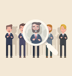 Business people are candidates for promotion vector
