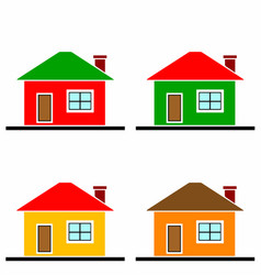 colorful houses set vector image vector image