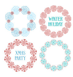 Cute new year decorative frame set for vector