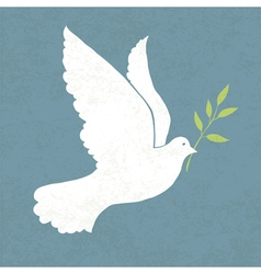 Dove with olive vector