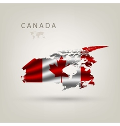 Flag of canada as a country vector image vector image
