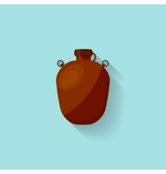 Flask with water in a flat style for camping vector image