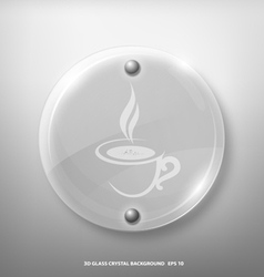 glass crystal marking a cup of coffee vector image vector image