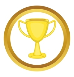 Golden trophy cup icon vector image vector image
