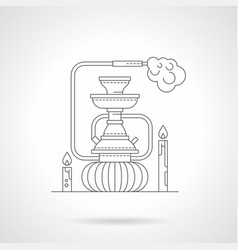 hookah lounge detailed line vector image