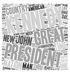 John f kennedy 1 text background wordcloud concept vector