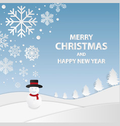 merry christmas and happy new year backgrounds vector image