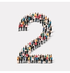people form number two vector image