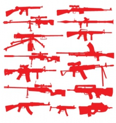Rifles and assualt weapons vector