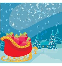 Santas sledge vector