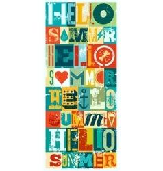 Summer typographic grunge retro poster design vector image vector image