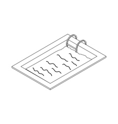 Swimming pool icon isometric 3d style vector image