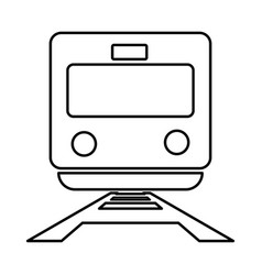 Train black color icon vector