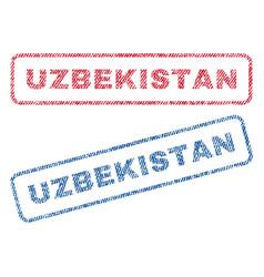 Uzbekistan textile stamps vector