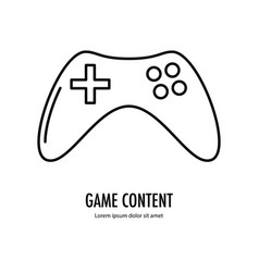 Video game content icon vector
