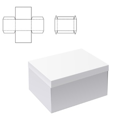 White box Mock up 1 vector image vector image