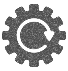 Gearwheel rotation grainy texture icon vector