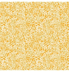 Golden lace roses seamless pattern background vector