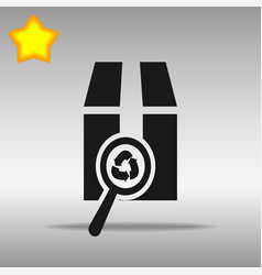 Magnifying glass scanning box vector