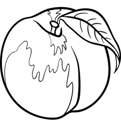 Peach for coloring book vector