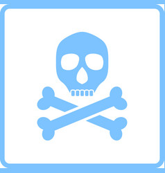 poison sign icon vector image