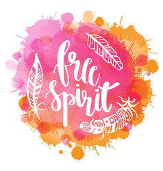 boho style lettering quotes and hand drawn vector image