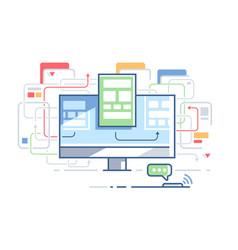 Web site structure vector
