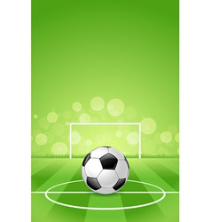 Soccer ball on green background vector