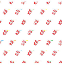 Seamless pattern summer beach cold drinks vector
