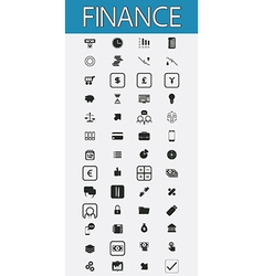 Finance pictograms set vector