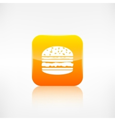 Hamburger web icon application button vector