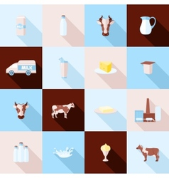 Milk icons set vector