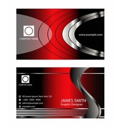Premium business card design set vector