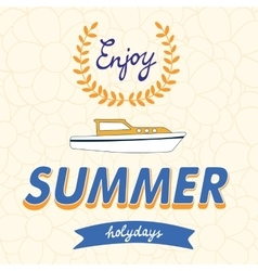 Enjoy summer typography on floral vector