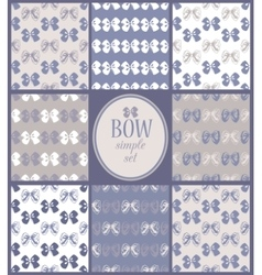 Siimple set of seamless bow backgrounds vector