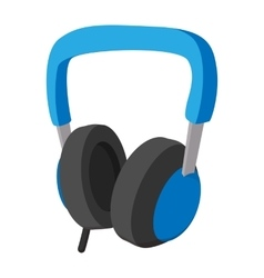 Big headphones cartoon icon vector