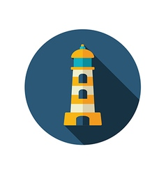 Lighthouse flat icon summer vacation vector