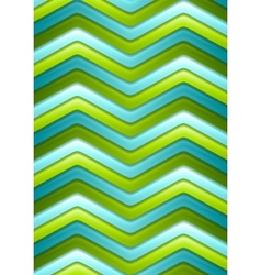 Abstract green and turquoise curved stripes vector